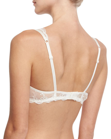 Orchid Paradis Lace Demi Bra, Ivory
