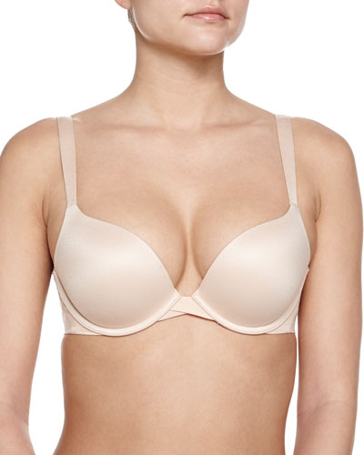 Pillow Cup Signature Push-Up Plunge Bra, Soft Nude