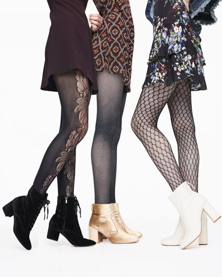 Metallic Net Tights