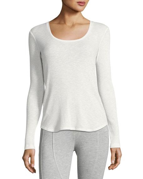 Georgia Ribbed Long-Sleeve Lounge T-Shirt