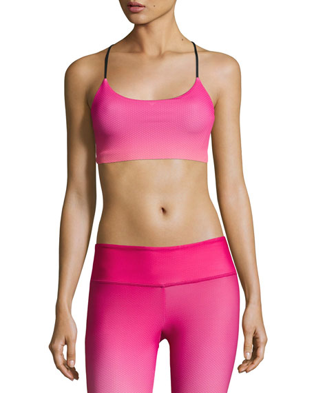 Onzie Graphic Vinyasa Sports Bra, Pink