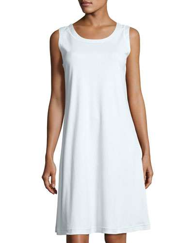 Butterknit Sleeveless Nightgown, Light Blue