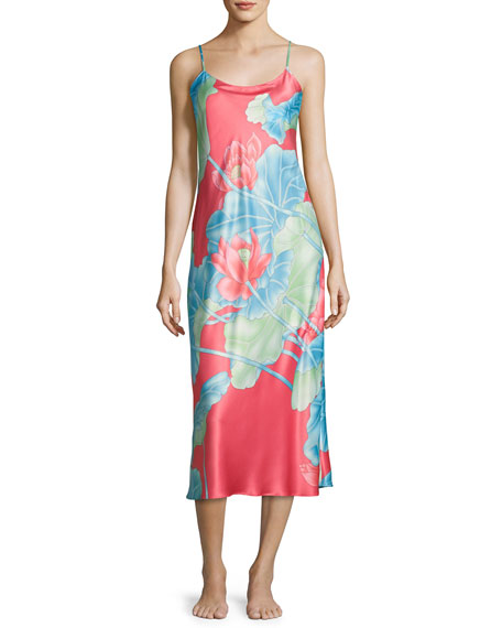 Natori Lian Long Satin Nightgown