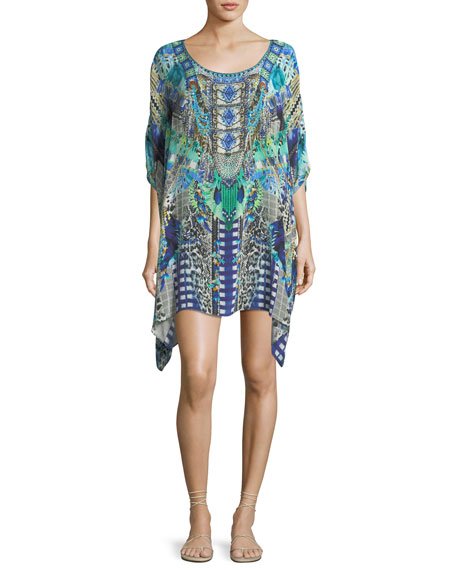 Camilla Round-Neck Embellished Kaftan Coverup and Matching Items