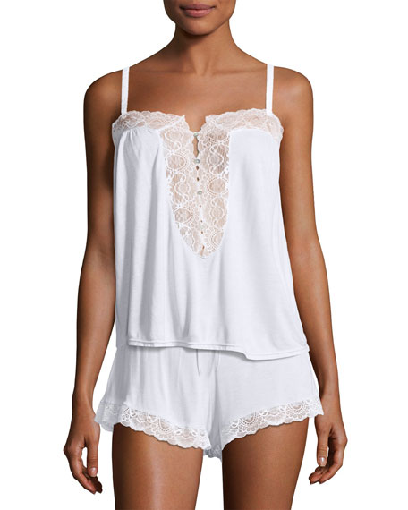 Eberjey I Do Lace-Inset Lounge Camisole