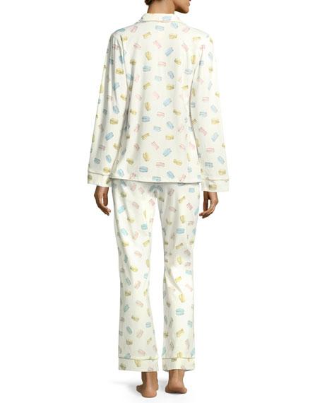 Macaron Long-Sleeve Classic Pajama Set