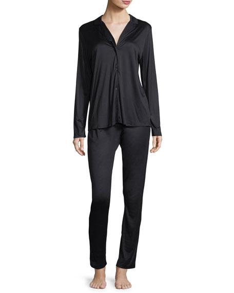 Hanro Estelle Long Silky Interlock Pajama Set
