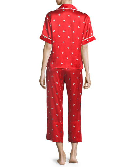 Daria Cindy Crop Silk Pajama Set