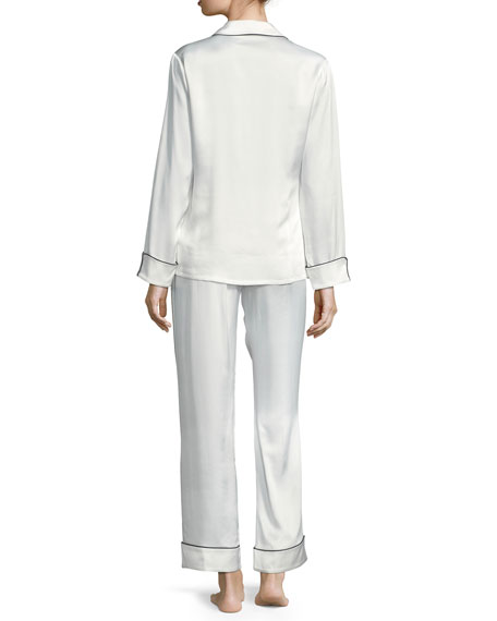 Coco Tiffany Long Silk Pajama Set