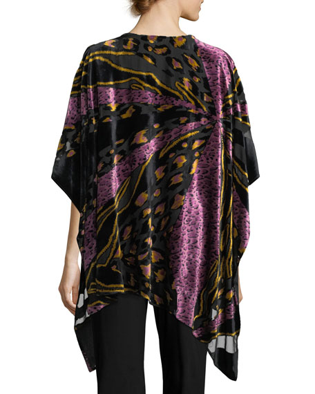 Party Animal Devore Velvet Caftan