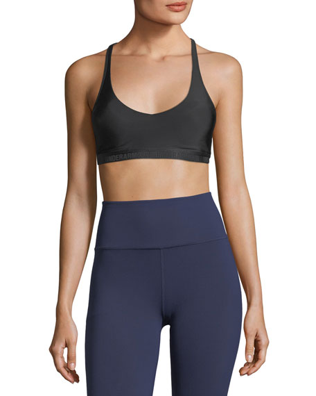 Scoop-Neck Strappy Back Performance Sports Bra and Matching