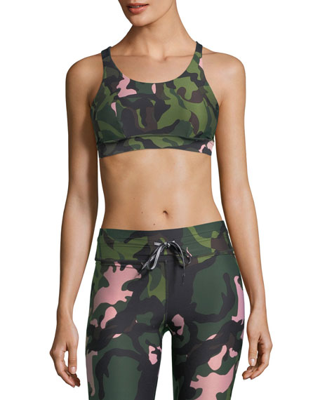 The Upside Crystal Camo Lottie Performance Crop Top