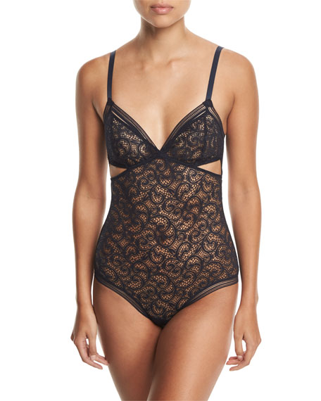 Paisley Soft-Cup Triangle Bodysuit