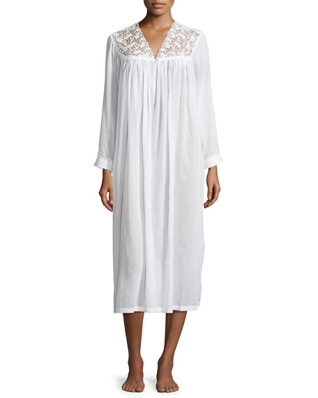 Celestine Anastasia Long-Sleeve Long Nightgown