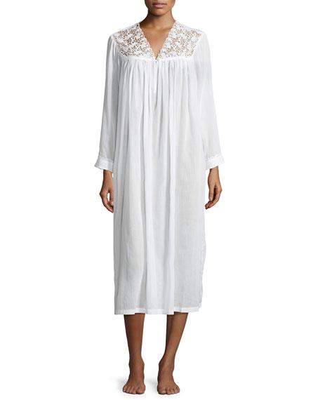 Celestine Anastasia Long-Sleeve Long Nightgown