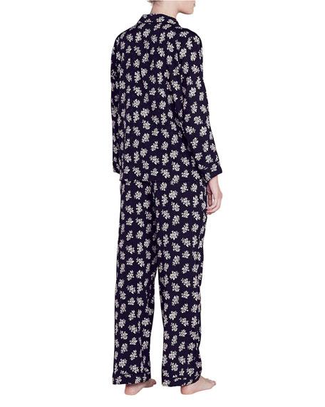 Lou Floral-Print Silk Pajama Set