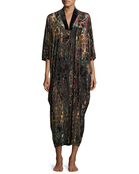Diamond Tea Gown PRINTED VELVET CAFTAN
