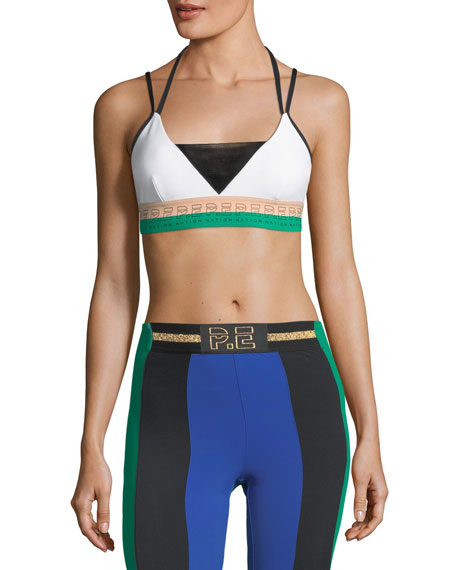 PE Nation Drop Shot Barre Performance Sports Bra
