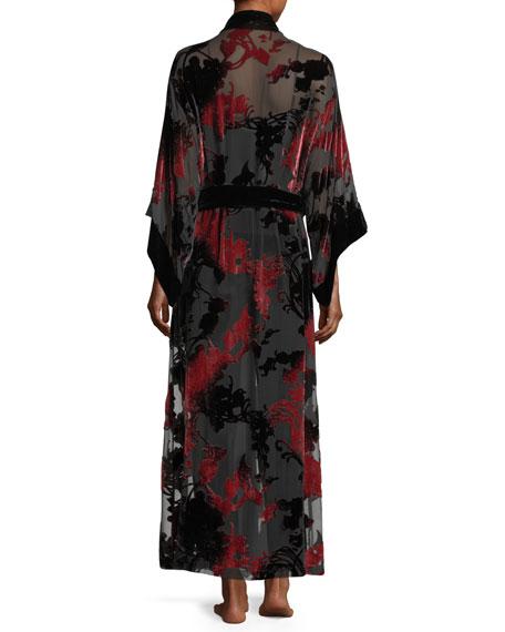 Shadow Velvet-Burnout Robe