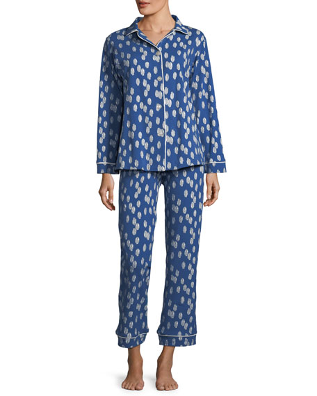 Bedhead Ikat Dot Long-Sleeve Classic Pajama Set, Plus