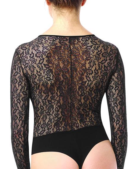 Floral Lace Long-Sleeve Bodysuit