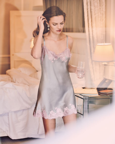 Lolita Scalloped Silk Chemise
