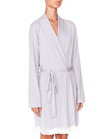 Lady Godiva Lace-Trimmed Robe
