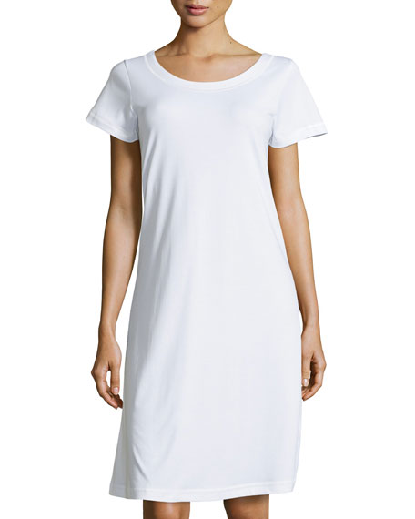 Butterknit Short-Sleeve Short Gown