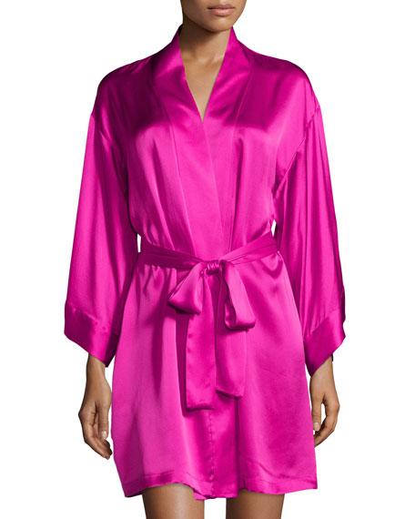 Josie Natori Lolita Belted Short Robe