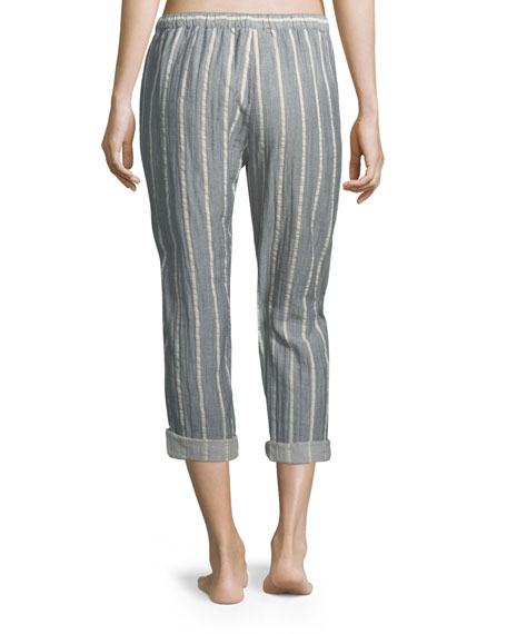 Jordyn Striped Crop Lounge Pants