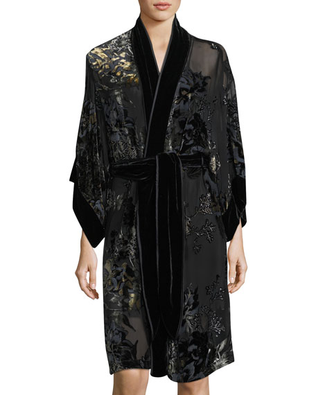 Josie Natori Luna Velvet-Burnout Robe and Matching Items