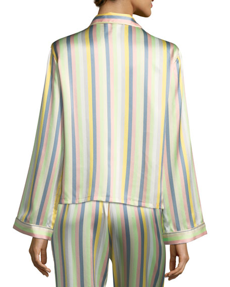 Ruthie Sorbet-Striped Pajama Top
