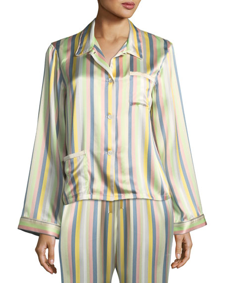 Morgan Lane Ruthie Sorbet-Striped Pajama Top