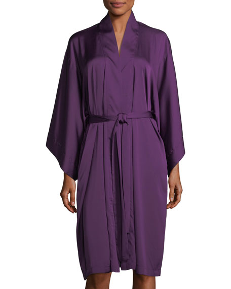 Natori Feathers Short-Sleeve Satin Robe and Matching Items