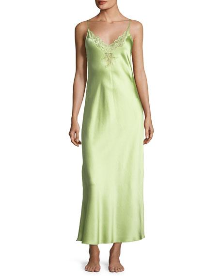 Capri Lace-Trim Silk Nightgown
