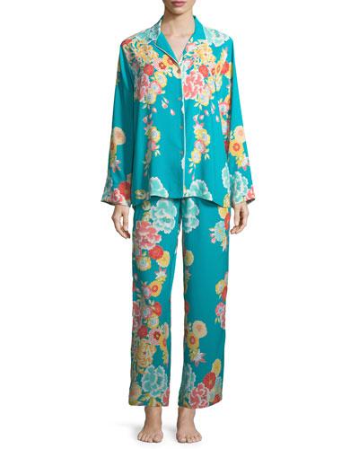Saipan Satin Long Pajama Set