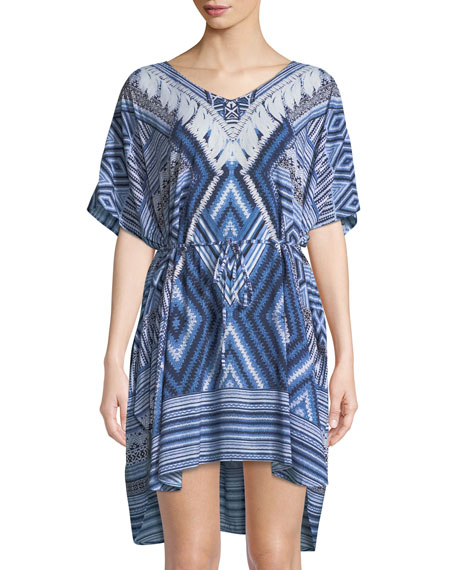 Seafolly Desert-Tribe Printed Kaftan Coverup, One Size