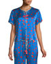 Beatrice Thief of Hearts-Print Lounge Top