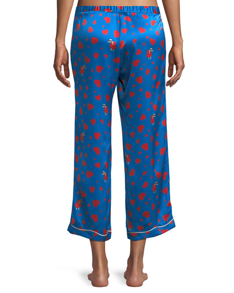 Lanie Thief of Hearts-Print Petal Pants