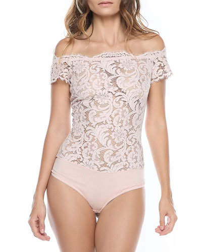 Nuit Ephemere Off-the-Shoulder Bodysuit
