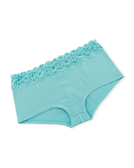 Avi Lace-Trim Boyshorts