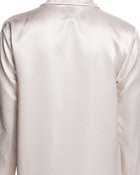 Edo Short-Sleeve Silk Pajama Set