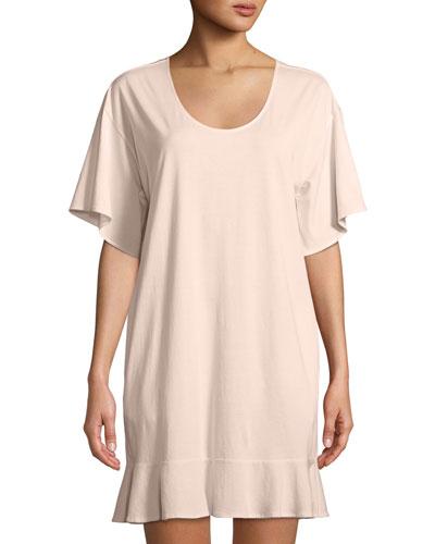 Ruffle Half-Sleeve Nightgown