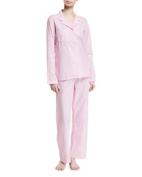 Derek Rose Amalfi Cotton Pajama Set