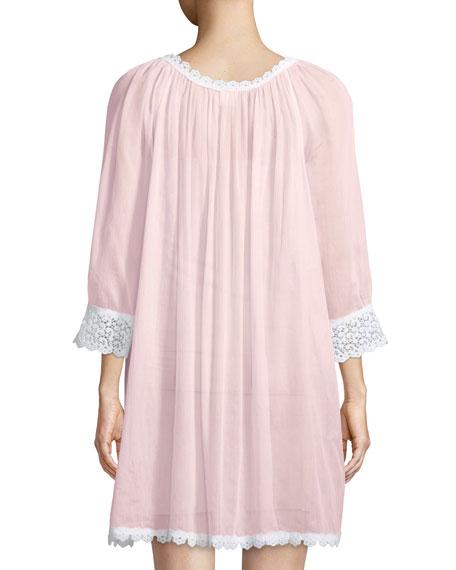 Donata Lace-Trim Sleepshirt