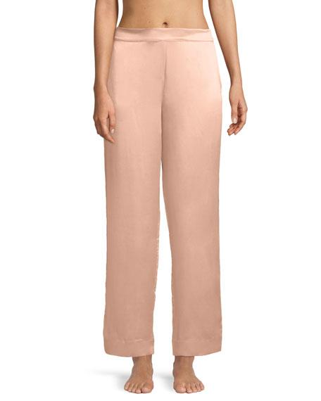 Asceno Bold-Striped Silk Pajama Pants