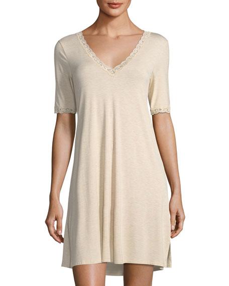 Feathers Lace-Trim Sleepshirt