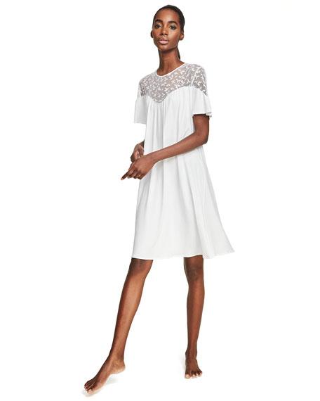 Iris Lace-Yoke Short Nightgown