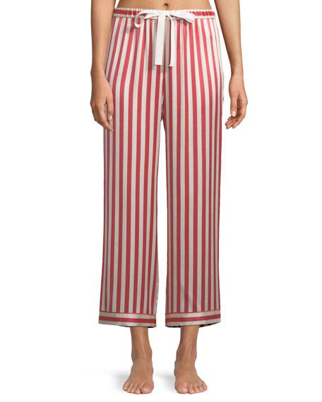 Americana Chantal Striped Silk Pajama Pants