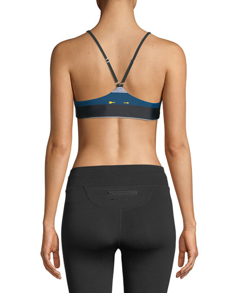 St. Tropez Zoe Striped Sports Bra Top